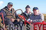 VINTAGE: Dan Hartnett (Listowel), with his Vintage Tractor at the Ardfert Ploughing Competitiuon on Sunday with the help of Michael Fealy and Michael Heaphy (Lixnaw)..    Copyright Kerry's Eye 2008