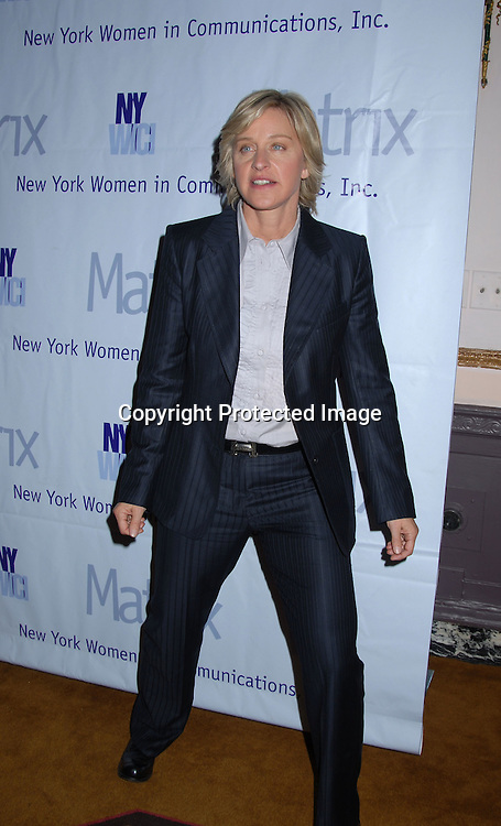 Ellen DeGeneres..at the New York Women in Communications, Inc 2006 Matrix Awards Luncheon on April 3, 2006 at The Waldorf Astoria Hotel. ..Robin Platzer, Twin Images