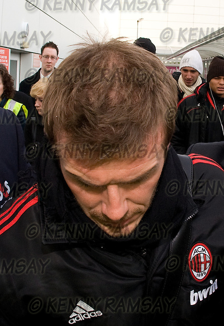 AC MILAN ARRIVE AT GLASGOW AIRPORT FOR THE FRIENDLY CLASH WITH RANGERS IBROX