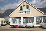 Boat sales shop, Trimley, Suffolk, England