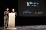 English National Ballet. Emerging Dancer competition 2013. The Queen Elizabeth Hall. The Ballet Boyz Michael Nunn and William Trevitt present an award.