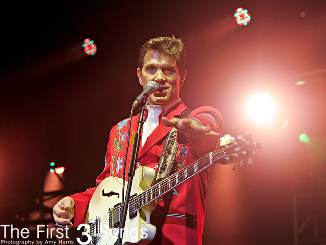 Chris Isaak performs during Day 2 of the Orlando Calling music festival at Citrus Bowl Park in Orlando, Florida on November 13, 2011.