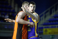 Montakit Fuenlabrada's Rolands Smits (l) and Herbalife Gran Canaria's Xavi Rabaseda during Eurocup, Top 16, Round 2 match. January 10, 2017. (ALTERPHOTOS/Acero) /NORTEPHOTO.COM