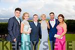 Enjoying a great time at the Milltown Presentation Debs at Ballyroe Heights Hotel on Tuesday were l-r Gerry Foley, Katie Piggott, Danny Healy, Laura Pendergest, Brendan Cronin and Rachel Coffey