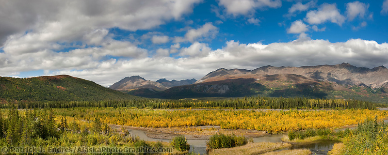 Nenana river in the Alaska Range mountains, Interior, Alaska.