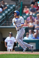 Durham Bulls left fielder Taylor Motter (13) at bat during a game against the Rochester Red Wings on July 20, 2016 at Frontier Field in Rochester, New York.  Rochester defeated Durham 6-2.  (Mike Janes/Four Seam Images)