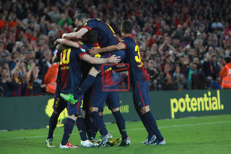 FC Barcelona vs R. Betis: 4-2 - LFP League BBVA 2012/13 - Game: 34.