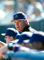 Arizona Diamondbacks Manager Buck Showalter participates in a Major League Baseball Spring Training game during the 1998 season in Phoenix, Arizona. (Larry Goren/Four Seam Images)