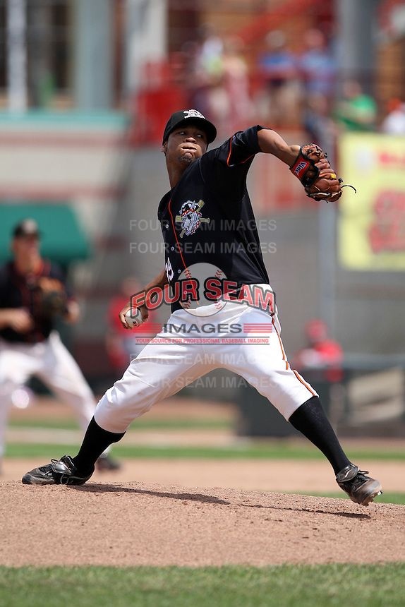 Erie Seawolves Luis Marte #39 during a game against the Richmond Flying Squirrels at Jerry Uht Park on July 27, 2011 in Erie, Pennsylvania.  Richmond defeated Erie 4-2.  (Mike Janes/Four Seam Images)