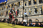 UAE-Emirates team on stage at sign on before the 101st edition of the Tour of Flanders 2017 running 261km from Antwerp to Oudenaarde, Flanders, Belgium. 26th March 2017.<br /> Picture: Eoin Clarke | Cyclefile<br /> <br /> <br /> All photos usage must carry mandatory copyright credit (&copy; Cyclefile | Eoin Clarke)