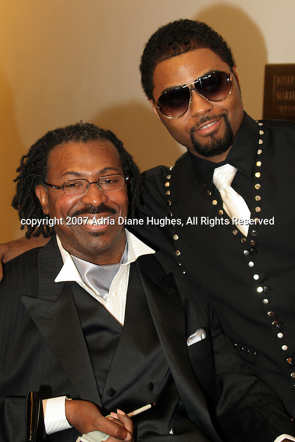 Teddy Pendergrass and Music Soul Child backstage at the 25TH Anniversary Celebration in Philadelphia, PA, Kimmel Center.