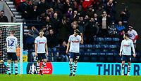 Preston North End players react to going 2-1 down<br /> <br /> Photographer Alex Dodd/CameraSport<br /> <br /> The Emirates FA Cup Third Round - Preston North End v Doncaster Rovers - Sunday 6th January 2019 - Deepdale Stadium - Preston<br />  <br /> World Copyright &copy; 2019 CameraSport. All rights reserved. 43 Linden Ave. Countesthorpe. Leicester. England. LE8 5PG - Tel: +44 (0) 116 277 4147 - admin@camerasport.com - www.camerasport.com