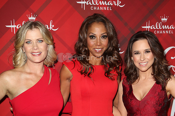 LOS ANGELES, CA - DECEMBER 4: Alison Sweeney, Holly Robinson Peete, Lacey Chabert, at Screening Of Hallmark Channel's 'Christmas At Holly Lodge' at The Grove in Los Angeles, California on December 4, 2017. Credit: Faye Sadou/MediaPunch