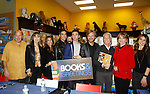 """Cast of Days Of Our Lives - Lauren Koslow, Kristian Alfonso, Galen Gering, Eddie Flynn, Stephen Nichols, Greg Meng, Diedre Hall, Kate Mansi, sign book """"Days Of Our Lives 50 Years"""" by Greg Meng - author & co-executive producer on October 27, 2015 at Books & Greetings, Northvale, New Jersey. (Photo by Sue Coflin/Max Photos)"""