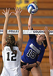 Marymount University's Christine Gallart during college volleyball action at Goucher College in Towson, MD, on Friday, Oct. 7, 2011..Photo by Cathleen Aliison
