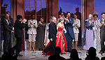 Stephen Flaherty, Christy Altomare with the cast and creative team during Broadway Opening Night Performance Curtain Call bows for 'Anastasia' at the Broadhurst Theatre on April 24, 2017 in New York City.