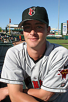 July 18, 2003:  Jason Childers of the Indianapolis Indians, Class-AAA affiliate of the Milwaukee Brewers, during an International League game at Frontier Field in Rochester, NY.  Photo by:  Mike Janes/Four Seam Images