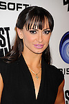 """LOS ANGELES, CA - OCTOBER 04: Karina Smirnoff arrives at the launch of """"Just Dance 3"""" at The Beverly on October 4, 2011 in Los Angeles, California."""