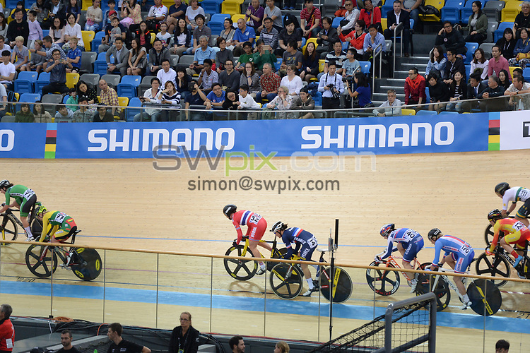 Picture by Richard Blaxall/SWpix.com - 12/04/2017 - Cycling - 2017 UCI Track Cycling World Championships - Hong Kong Velodrome, Tseung Kwan O, Hong Kong - the,brief,marketing,tissot,santini,tacx,shimano,
