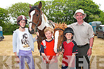 Chloe Falvey Abbeydorney with her horse Aragorn and Jackie Mullvihill, with her horse Princess Listowel, in the company of JohnScully and Michael Dineen, Asdee....   Copyright Kerry's Eye 2008