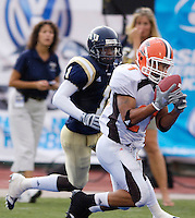 Florida International University Golden Panthers v. Bowling Green University Falcons at Miami, Florida on Saturday, September 16, 2006...Bowling Green sophomore cornerback Kenny Lewis (21) intercepts FIU's Josh Padrick's pass in the endzone to end the Golden Panther drive in the first quarter.