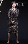 "November 24, 2017, Tokyo, Japan - Japanese Naoki award author Riku Onda poses as she receives the trophy of ""Vogue Japan Women of the Year 2017"" award in Tokyo on Friday, November 24, 2017.      (Photo by Yoshio Tsunoda/AFLO) LWX -ytd-"
