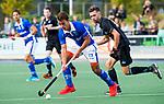 UTRECHT -  Boet Phijffer (Kampong)  met Steijn van Heijningen (HGC) tijdens de hoofdklasse  hockeywedstrijd heren, Kampong-HGC (3-3) . COPYRIGHT KOEN SUYK