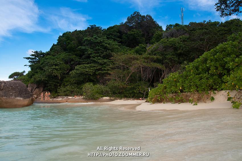 High tide on Ko miang beach, Similan islands, Thailand