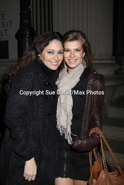Jessica Leccia & Kelley Missal at the One Life To Live 2010 Holiday Party was celebrated on December 21, 2010 at Capitale, New York City, New York. (Photo by Sue Coflin/Max Photos)