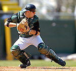 21 April 2007: University of Vermont Catamounts' Jeff Heppner, a Sophomore from Riverhead, NY, in action against the University of Hartford Hawks at Historic Centennial Field, in Burlington, Vermont...Mandatory Photo Credit: Ed Wolfstein Photo