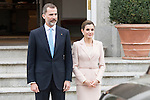 King Felipe VI of Spain and Queen Letizia during meeting with president of Argentinian Republic, Sr. Mauricio Macri and Sra Juliana Awada at Real Palace in Madrid, Spain. February 19, 2017. (ALTERPHOTOS/BorjaB.Hojas)