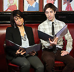 Raven-Symone,  Justin Long.attending the Announcements for the 2012 Drama League Nominations held at Sardi's on 4/24/2012 in New York City. © Walter McBride / Retna Ltd.