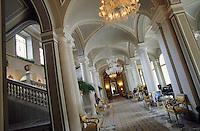 Europe/Italie/Lac de Come/Lombardie/Cernobbio : Villa d'Este (XVI°) - Le hall