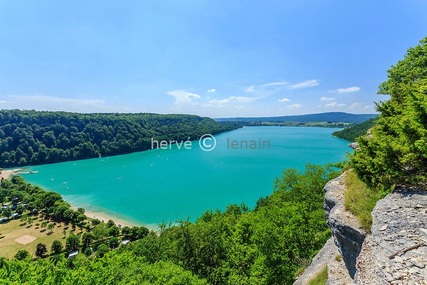 France, Jura (39), Fontenu, lac de Chalain // France, Jura, Fontenu, Chalain lake