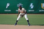 May 23, 2014; Stockton, CA, USA; Pepperdine Waves infielder Manny Jefferson (5) during the WCC Baseball Championship at Banner Island Ballpark.