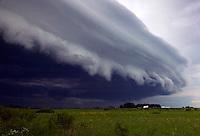 Shelf cloud, Brown County, Minnesota