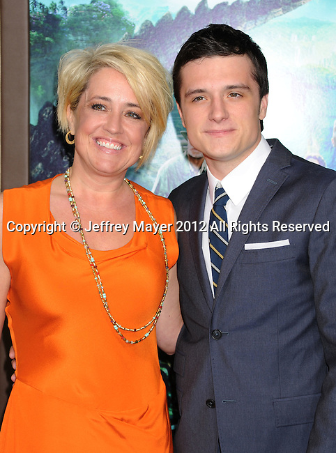 HOLLYWOOD, CA - FEBRUARY 02: Josh Hutcherson and Mom attend 'Journey 2: The Mysterious Island' Los Angeles Premiere at Grauman's Chinese Theatre on February 2, 2012 in Hollywood, California.