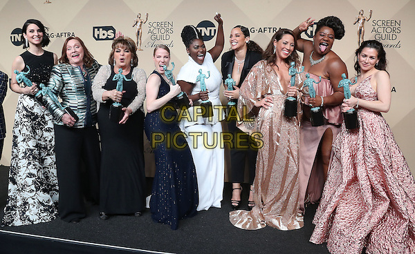 29 January 2017 - Los Angeles, California - Danielle Brooks, Selenis Leyva, Adrienne C. Moore, Yael Stone, Madeline Brewer, Annie Golden, Emma Myles, Lin Tucci, Beth Fowler. 23rd Annual Screen Actors Guild Awards held at The Shrine Expo Hall. <br /> CAP/ADM/FS<br /> &copy;FS/ADM/Capital Pictures