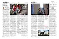 French Weekly magazine L'EXPRESS on the street dogs in Sofia, Bulgaria, 04.2012.<br /> Photos: Pierre Marsaut