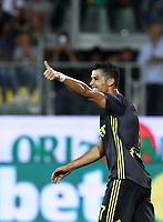 Calcio, Serie A: Frosinone-Juventus, Benito Stirpe stadium, Frosinone, September 23, 2018. <br /> Juventus' Cristiano Ronaldo reacts during the Italian Serie A football match between Frosinone and Juventus at Frosinone stadium on September 23, 2018.<br /> UPDATE IMAGES PRESS/Isabella Bonotto