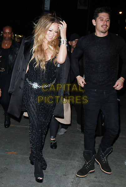 NEW YORK, NY - OCTOBER 23: Mariah Carey , Bryan Tanaka  arriving to the V Magazine Dinner in honor of Karl Lagerfeld at the Standard High Line in New York City on October 23, 2017. <br /> CAP/MPI/RW<br /> &copy;RW/MPI/Capital Pictures