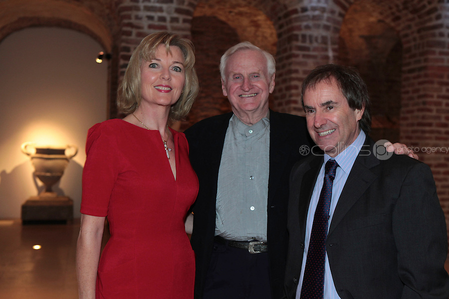 27/1/11 John Boorman with Chris and Diane De Burgh at the 30th Anniversary of Excalibur, raising funds for the launch of the the Warrior Programme Ireland at the Pwerscourt House, Enniskerry, Co Wicklow. Picture: Arthur Carron/Collins