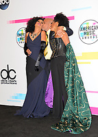 Diana Ross & Barry Gordy & daughter Rhonda at the 2017 American Music Awards at the Microsoft Theatre LA Live, Los Angeles, USA 19 Nov. 2017<br /> Picture: Paul Smith/Featureflash/SilverHub 0208 004 5359 sales@silverhubmedia.com