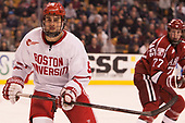 Chad Krys (BU - 5) - The Harvard University Crimson defeated the Boston University Terriers 6-3 (EN) to win the 2017 Beanpot on Monday, February 13, 2017, at TD Garden in Boston, Massachusetts.