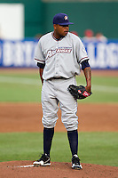 Jeremy Jeffress (30) of the Northwest Arkansas Naturals on the mound during a game against the Springfield Cardinals and the Springfield Cardinals at Hammons Field on July 30, 2011 in Springfield, Missouri. Springfield defeated Northwest Arkansas 11-5. (David Welker / Four Seam Images)