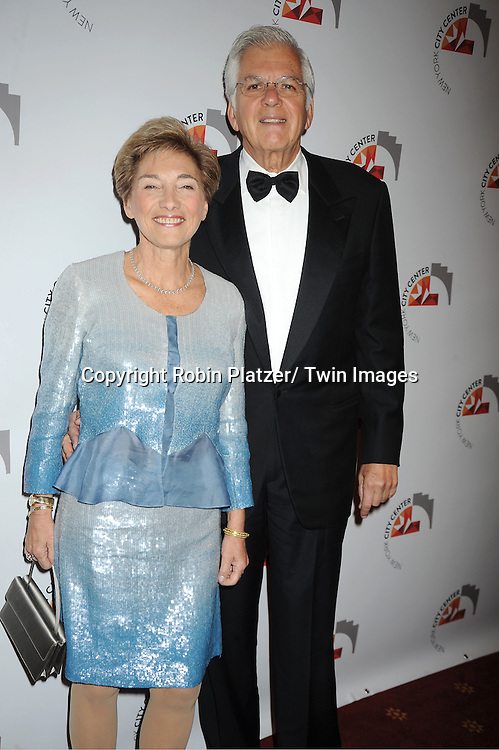 Cherry and Steven Jacobs attends the New York City Center Reopening on October 25, 2011 at City Center in New York City.