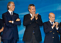 Roma 2nd AUGUST 2009 - 13th Fina World Championships ..From 17th to 2nd August 2009..Closing Ceremony..Paolo Barelli president of The italian Swimming federation....Giovanni Malago President of the Roma09 organizing committee..Julio Maglione President of FINA..Roma2009.com/InsideFoto/SeaSee.com