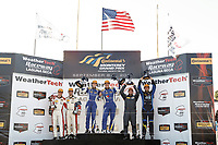 #73 MINI JCW Team, MINI JCW, ST: Mat Pombo, Mike LaMarra, #81 BimmerWorld Racing, BMW 328i, ST: Nick Galante, Devin Jones, #21 Bodymotion Racing, Porsche Cayman, ST: Max Faulkner, Jason Rabe, podium