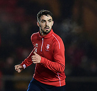 Lincoln City's Jordan Williams during the pre-match warm-up<br /> <br /> Photographer Chris Vaughan/CameraSport<br /> <br /> The EFL Sky Bet League Two - Lincoln City v Cheltenham Town - Tuesday 13th February 2018 - Sincil Bank - Lincoln<br /> <br /> World Copyright &copy; 2018 CameraSport. All rights reserved. 43 Linden Ave. Countesthorpe. Leicester. England. LE8 5PG - Tel: +44 (0) 116 277 4147 - admin@camerasport.com - www.camerasport.com