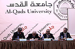 Palestinian Prime Minister Salam Fayyad, attends meeting  the Al- Quds university, under the title (successes, obstacles and future prospects) in the West Bank City of Jerusalem, on Mar. 14, 2012. Photo by Mustafa Abu Dayeh.